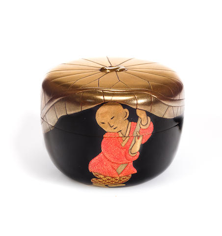 A lacquer natsume (tea caddy) 20th century, by Suzuki Mutsumi