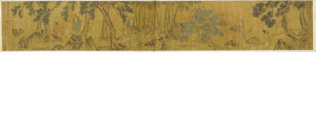 After Zhao Yong (1289-after 1360)  Scholar's Gathering