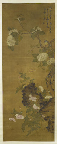 Attributed to Zou Yigui (1686-1772) Birds and Flowers, 1750