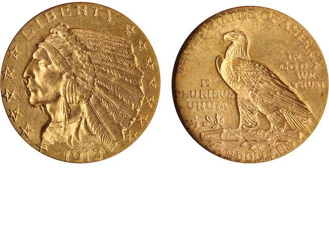 1913 $5 MS62 PCGS