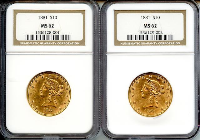 1881 $10 MS62 NGC (2)