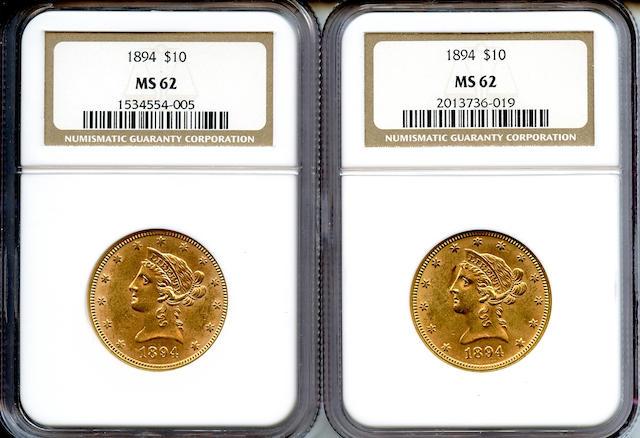 1894 $10 MS62 NGC (2)