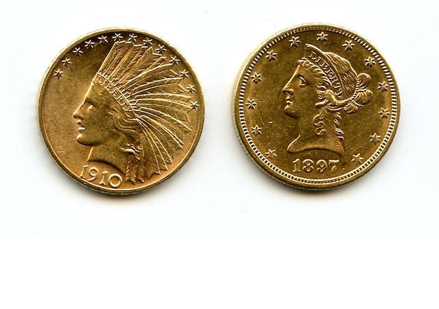 1897-O, 1910-S $10