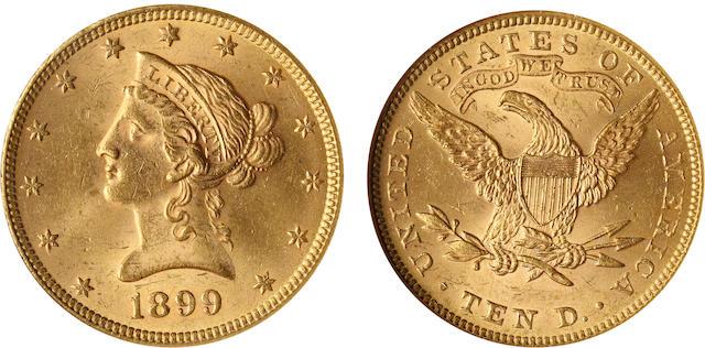 1899 $10 MS62 NGC