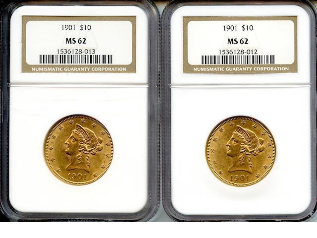 1901 $10 MS62 NGC (2)