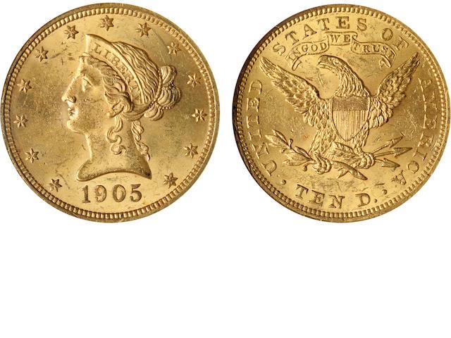 1905 $10 MS62 NGC