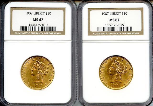 1907 Liberty $10 MS62 NGC (2)