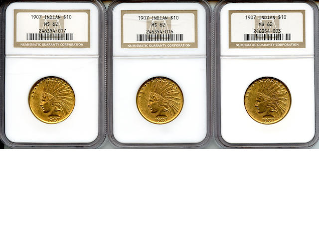 1907 Indian $10 MS62 NGC (3)