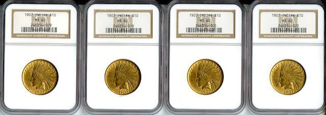 1907 Indian $10 MS62 NGC (4)