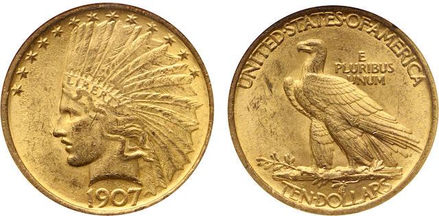 1907 Indian $10 MS62 NGC