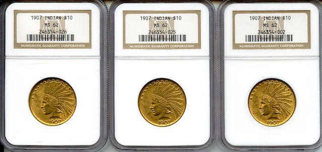 1907 Indian $10 MS62 NGC (3)
