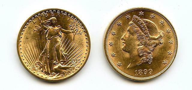 1899, 1915 $20