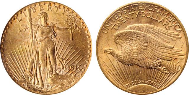 1911-S $20 MS64 PCGS