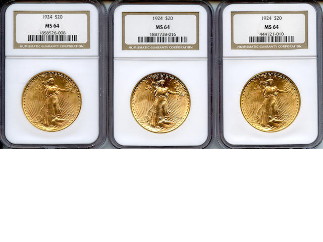 1924 $20 MS64 NGC (3)