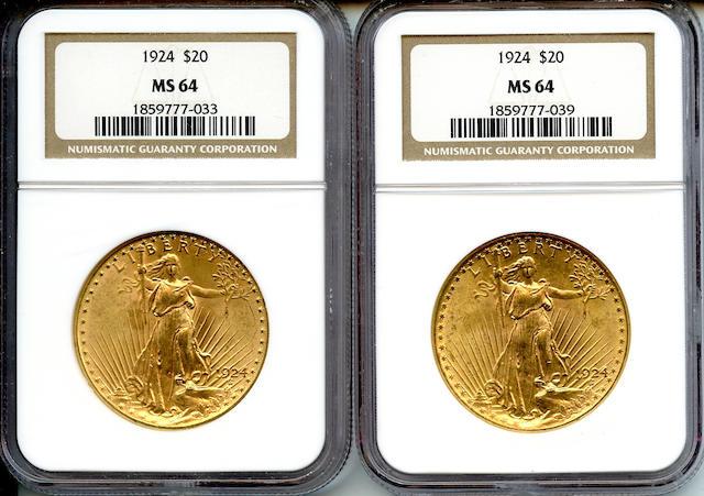 1924 $20 MS64 NGC (2)