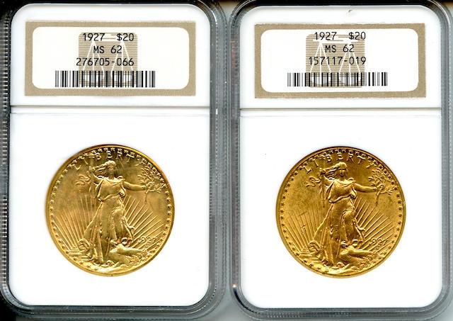 1927 $20 MS62 NGC (2)
