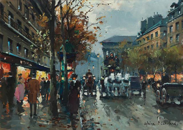 Antoine Blanchard (French, 1910-1988) Paris street scene