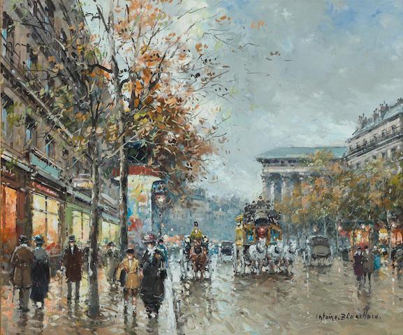Antoine Blanchard (French, 1910-1988), SENDING TO HR Boulevard de la Madeleine 18 x 21 1/2in