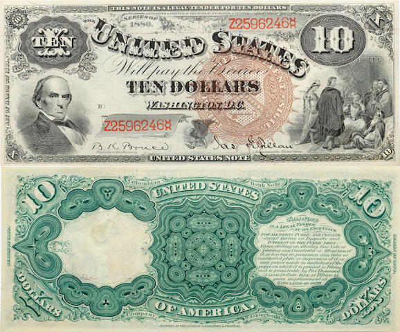 Fr. 101, Series 1880 $10 Legal Tender Note