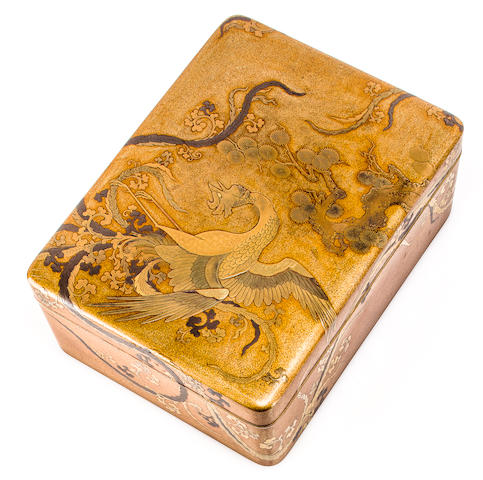 A lacquer tebako (accessory box) Edo period (19th century)