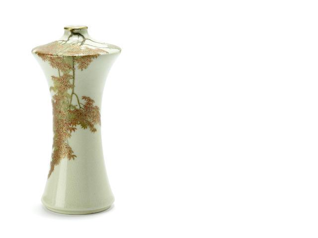 A miniature Satsuma style vase<BR />By Yabu Meizan, late 19th century