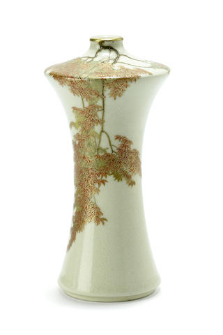 A miniature Satsuma style vase<BR />By Yabu Meizan, late 19th century
