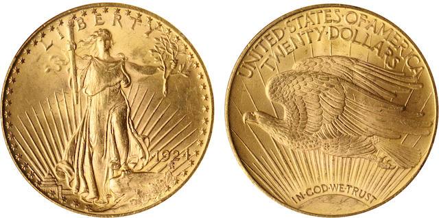 1924 $20 MS64 NGC
