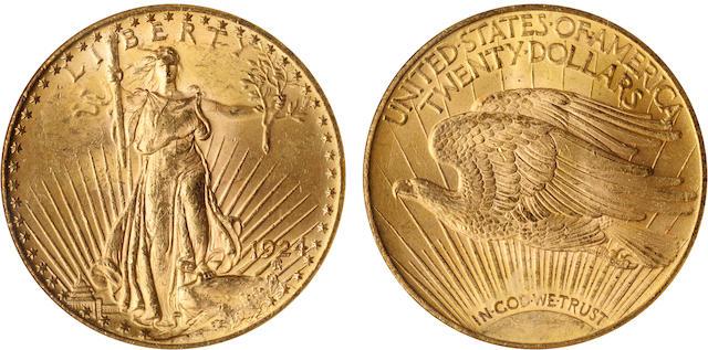 1924 $20 MS62 NGC