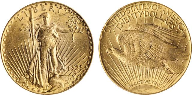 1925 $20 MS62 NGC