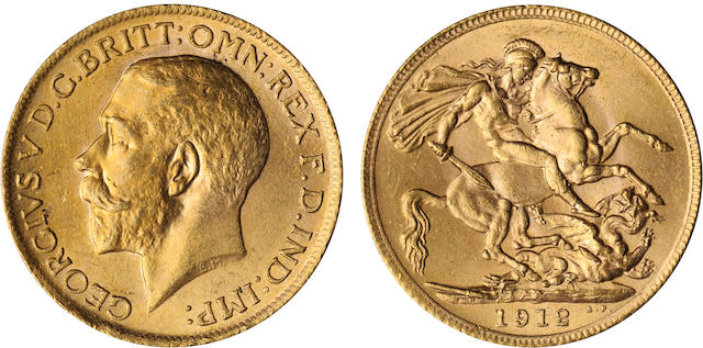 Great Britain, George V, Sovereign, 1912