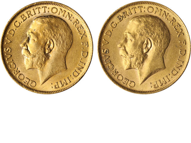 Great Britain, George V, Sovereigns, 1914 (2)