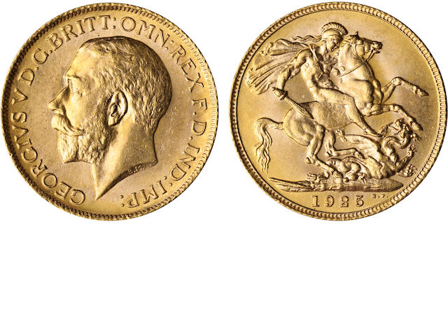 Great Britain, George V, Sovereign, 1925