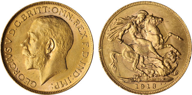Australia, George V, Sovereign, 1913-P