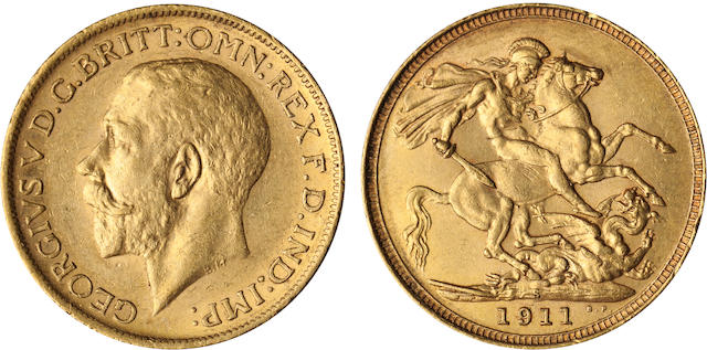 Australia, George V, Sovereign, 1911-S