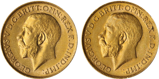 Australia, George V, Sovereigns, 1918-S (2)