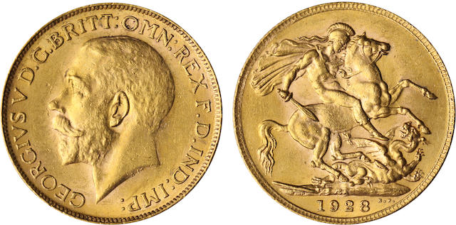 South Africa, George V, Sovereign, 1928-SA