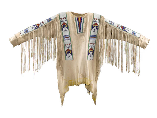 A Sioux beaded shirt