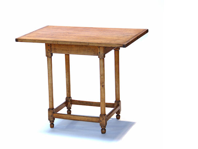 A Queen Anne maple tavern table 18th century