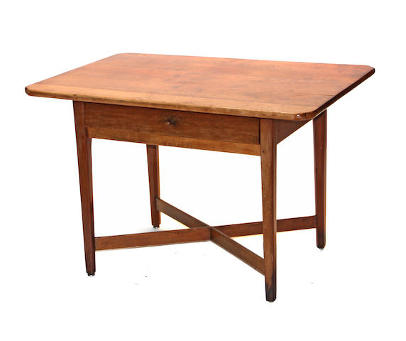A Chippendale cherry tavern table early 19th century