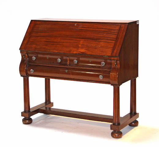 A Classical style mahogany slant front desk early 20th century