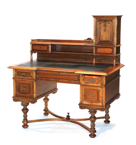 An Austrian Renaissance Revival walnut desk third quarter 19th century