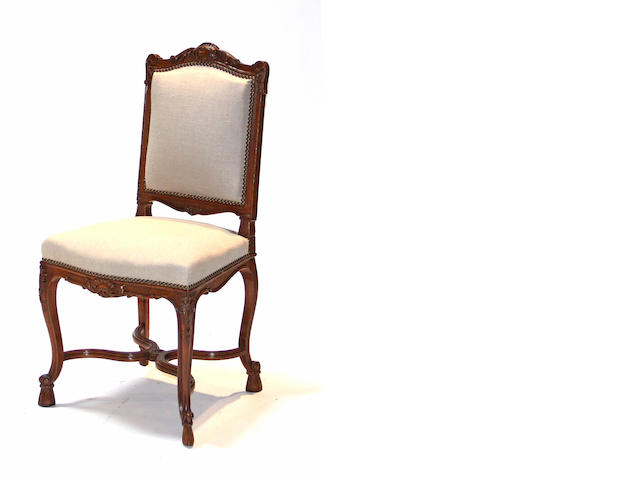 A set four Régence style beechwood side chairs fourth quarter 19th century