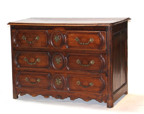 A Louis XV provincial walnut commode second half 18th century