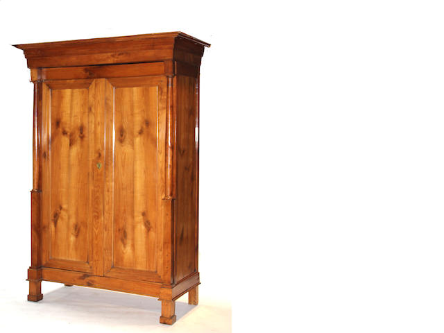 A Louis Philippe fruitwood armoire  mid 19th century