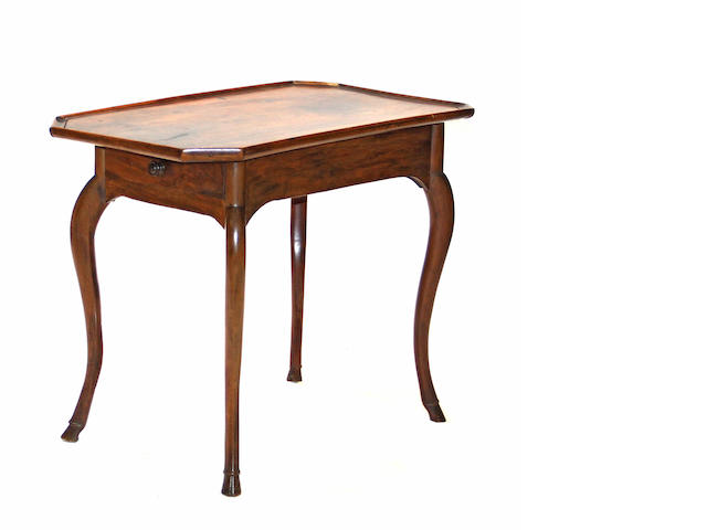 A Louis XV walnut table third quarter 18th century