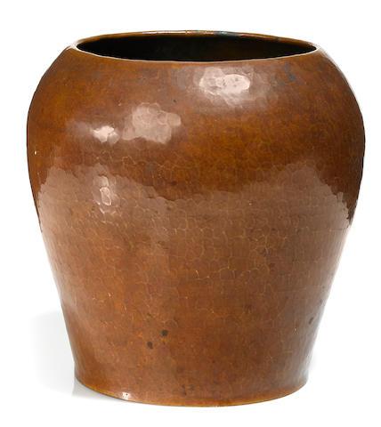 A Dirk van Erp hammered copper vase circa 1911