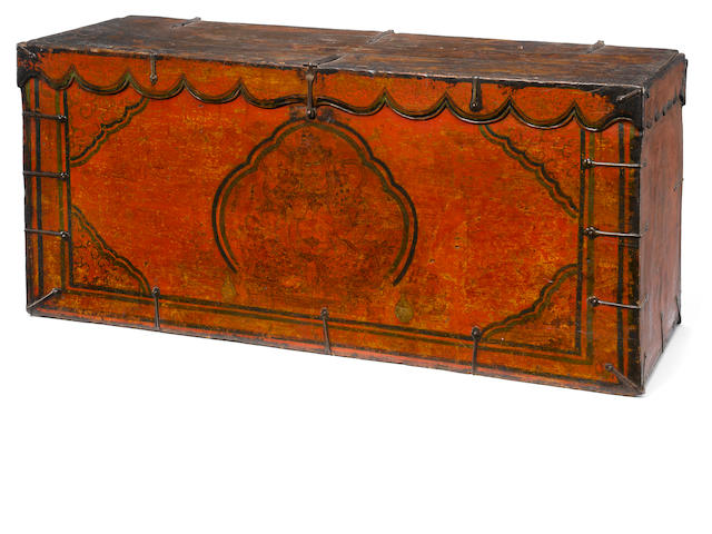 A Tibetan jambala storage trunk 15th/16th century