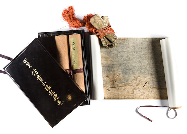 A set of 3 handscrolls of reproduction of Shigisan Engi