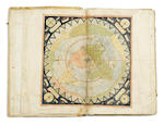 MONTE WORLD MAP, MANUSCRIPT ATLAS, C.1587. IN CUSTOM MOROCCO CASE.
