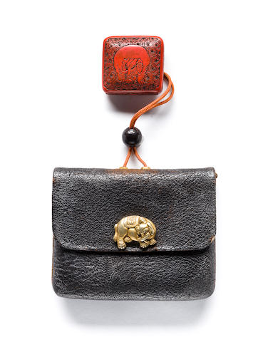 Tobacco pouch - elephant clasp